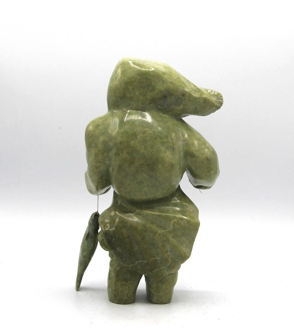 woman inuit art sculpture serpentine kimmirut