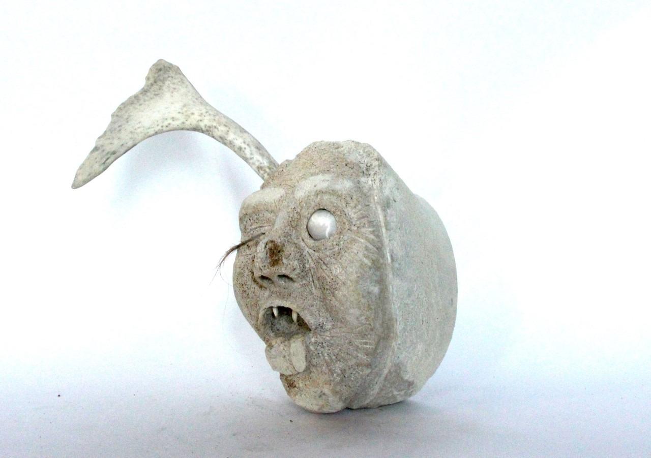 Greg morgan shaman inuit art whale bone hall beach