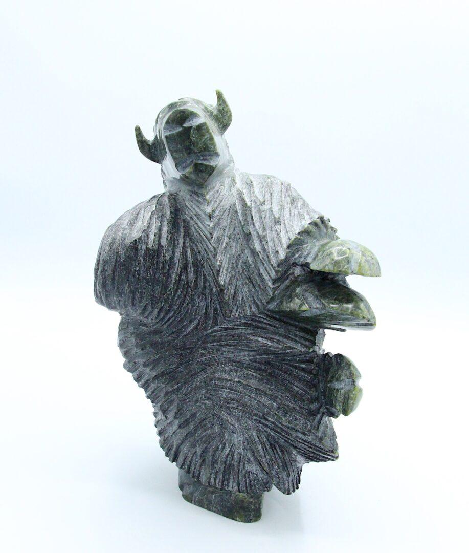 muskox Inuit Art Sculpture in Serpentine