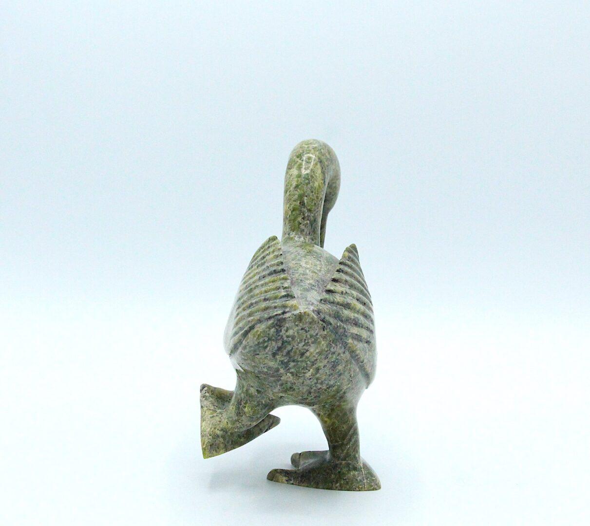 dancing bird Inuit Art Sculpture in Serpentine