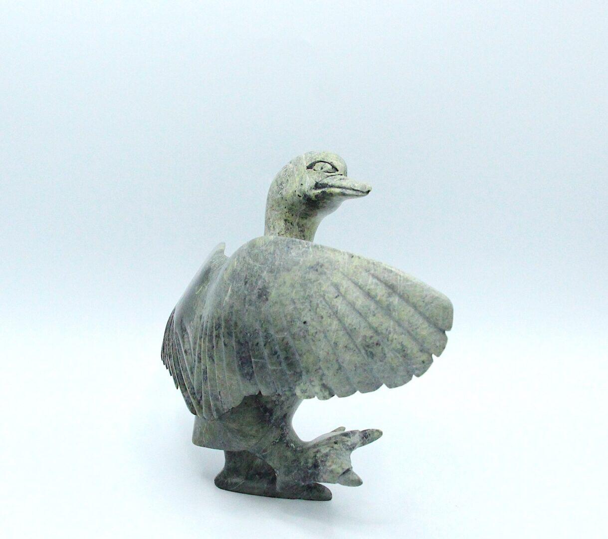 bird Inuit Art Sculpture in Serpentine