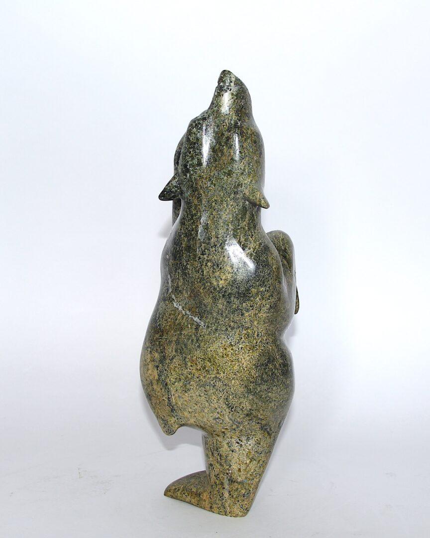 dancing bear Inuit Art Sculpture in Serpentine