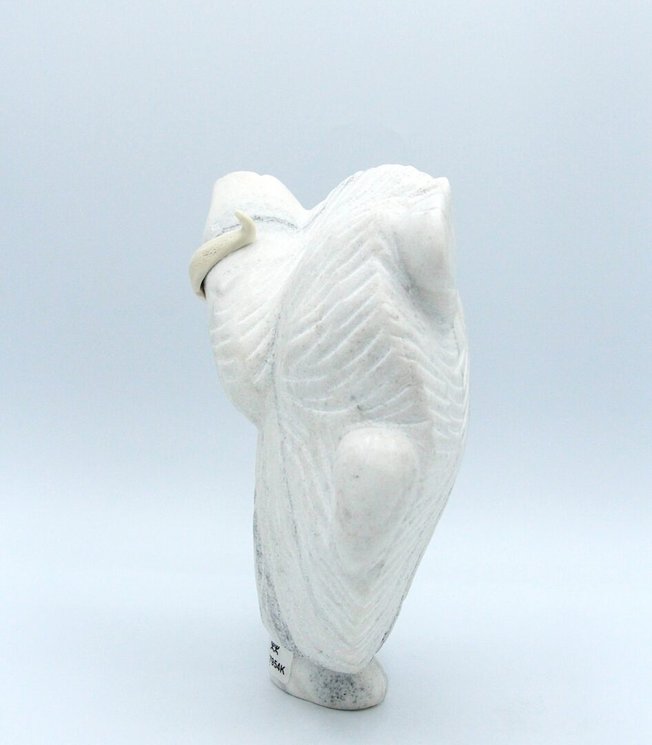 dancing muskox Inuit Art Sculpture in marble