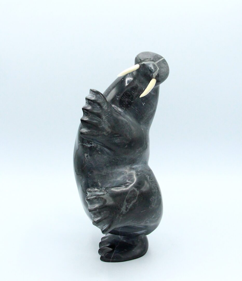 walrus Inuit Art Sculpture in Serpentine