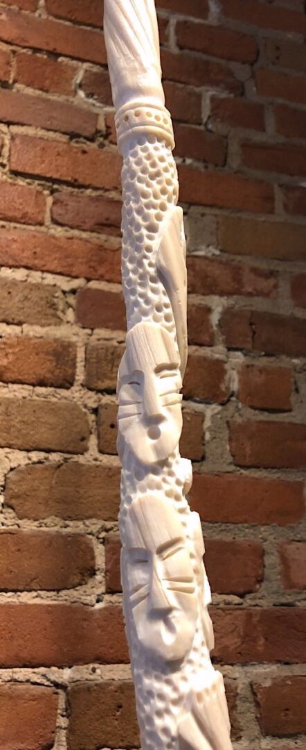 narwhal tusk inuit art sculpture