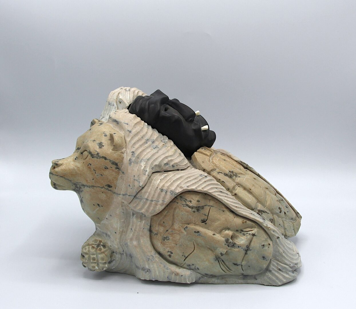 chief iroquois art sculpture made in soapstone