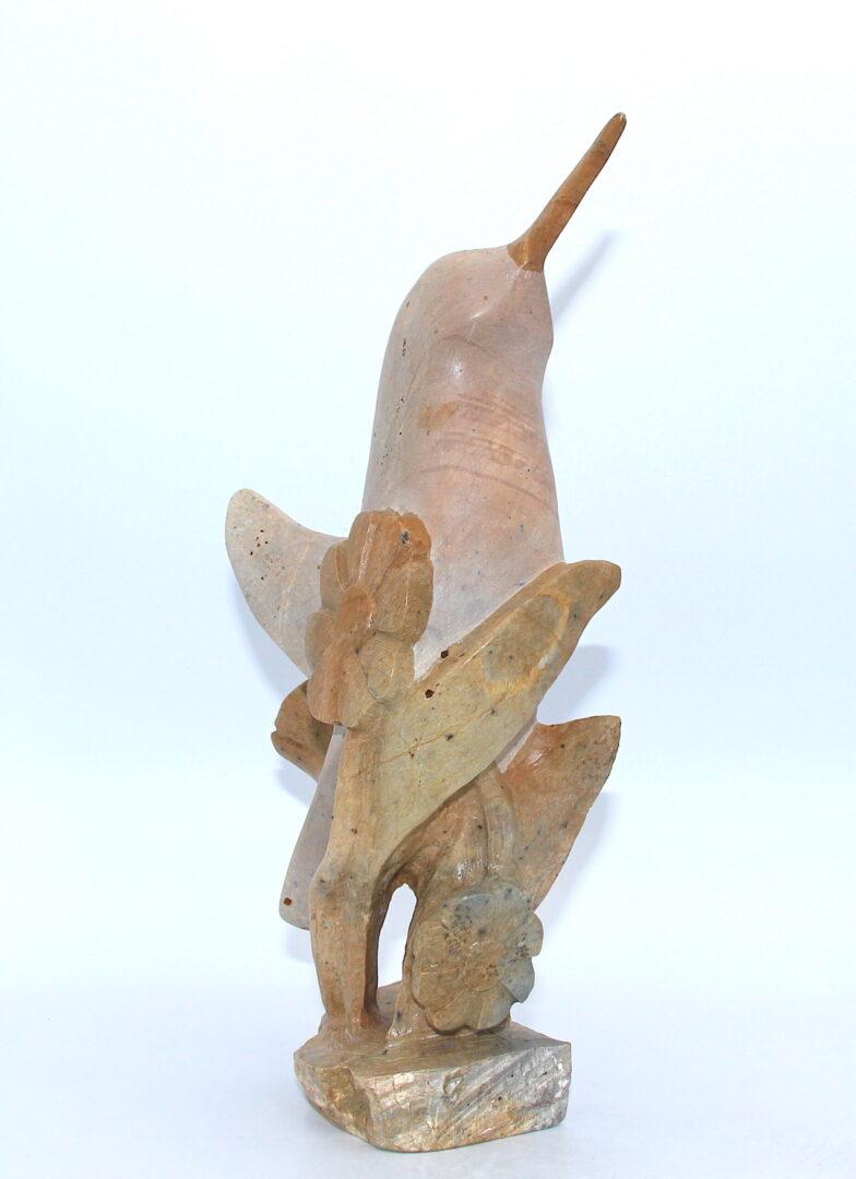 humming bird iroquois art sculpture made in soapstone