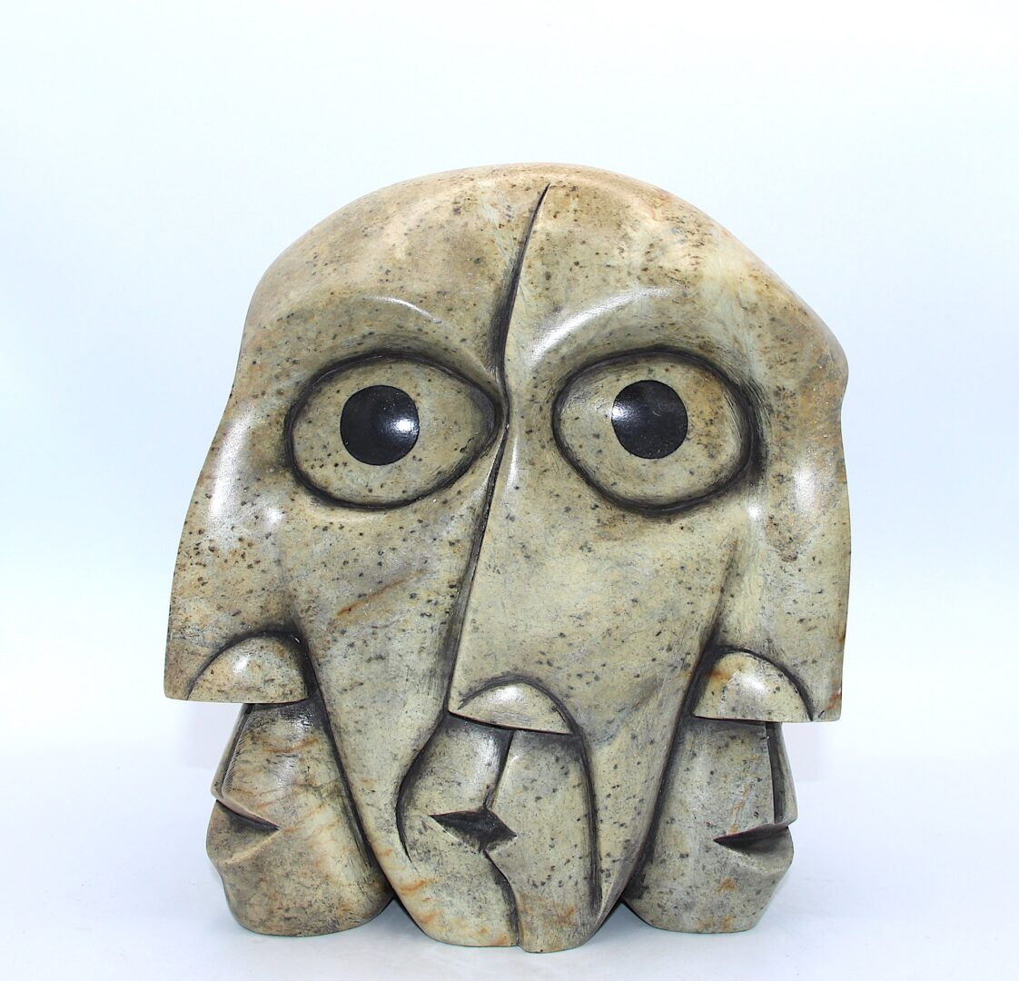 free my mind iroquois art sculpture made in soapstone