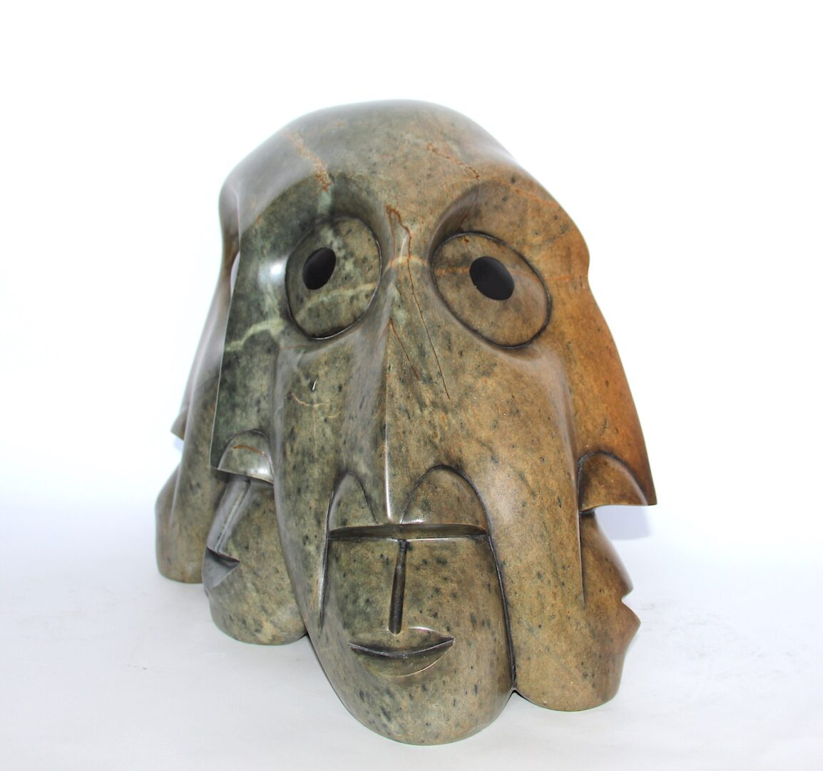 who you listening to today ? iroquois art sculpture made in soapstone