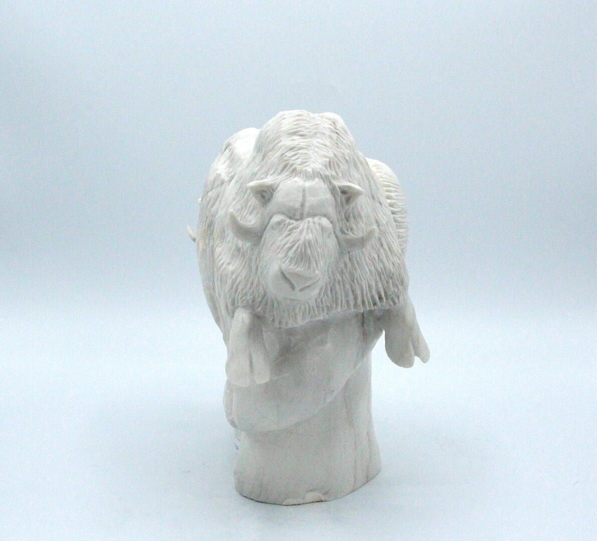 hunter inuit art sculpture in marble