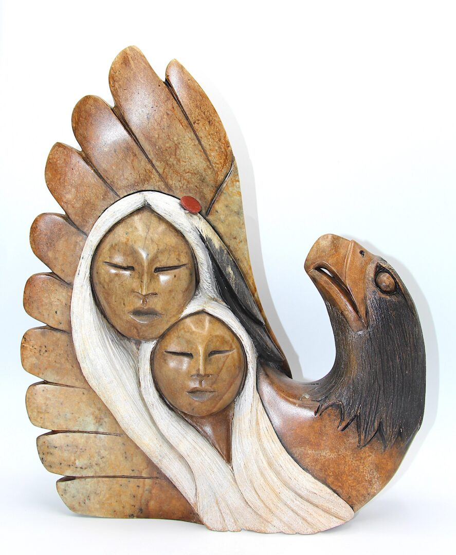 friendship iroquois art sculpture made in soapstone