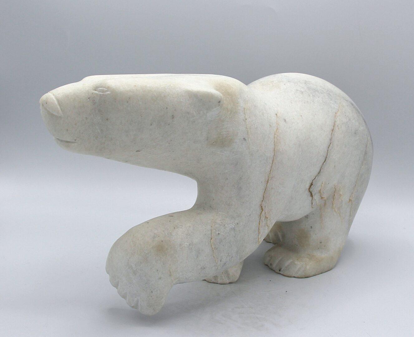 walking bear inuit art sculpture in marble
