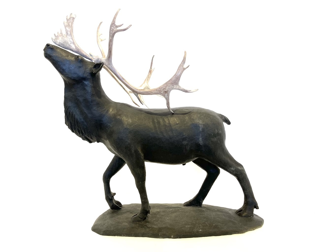 Caribou by Paul Maliki Repulse Bay Basalte