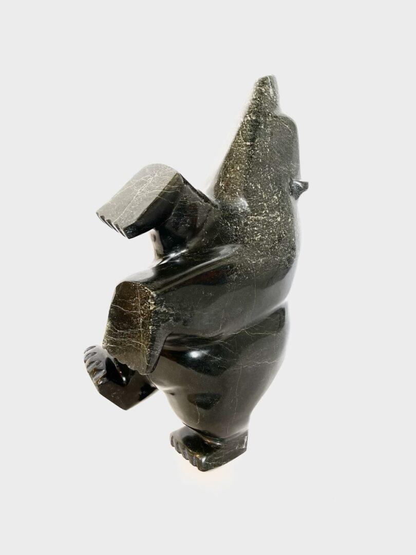 Joannie Ragee Cape Dorset Inuit Sculpture Serpentine Stone