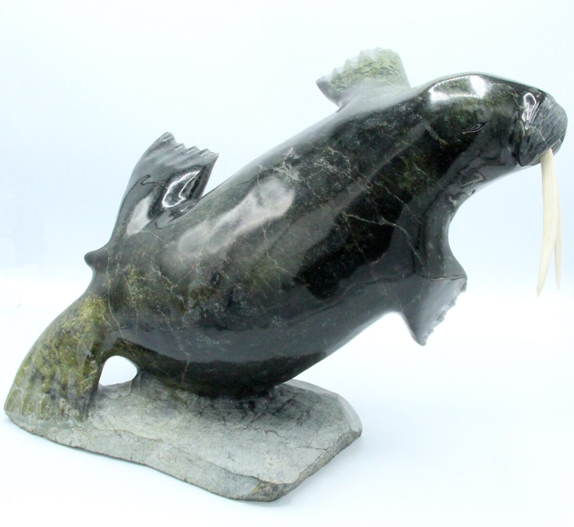 Walrus Inuit Art Sculpture Serpentine