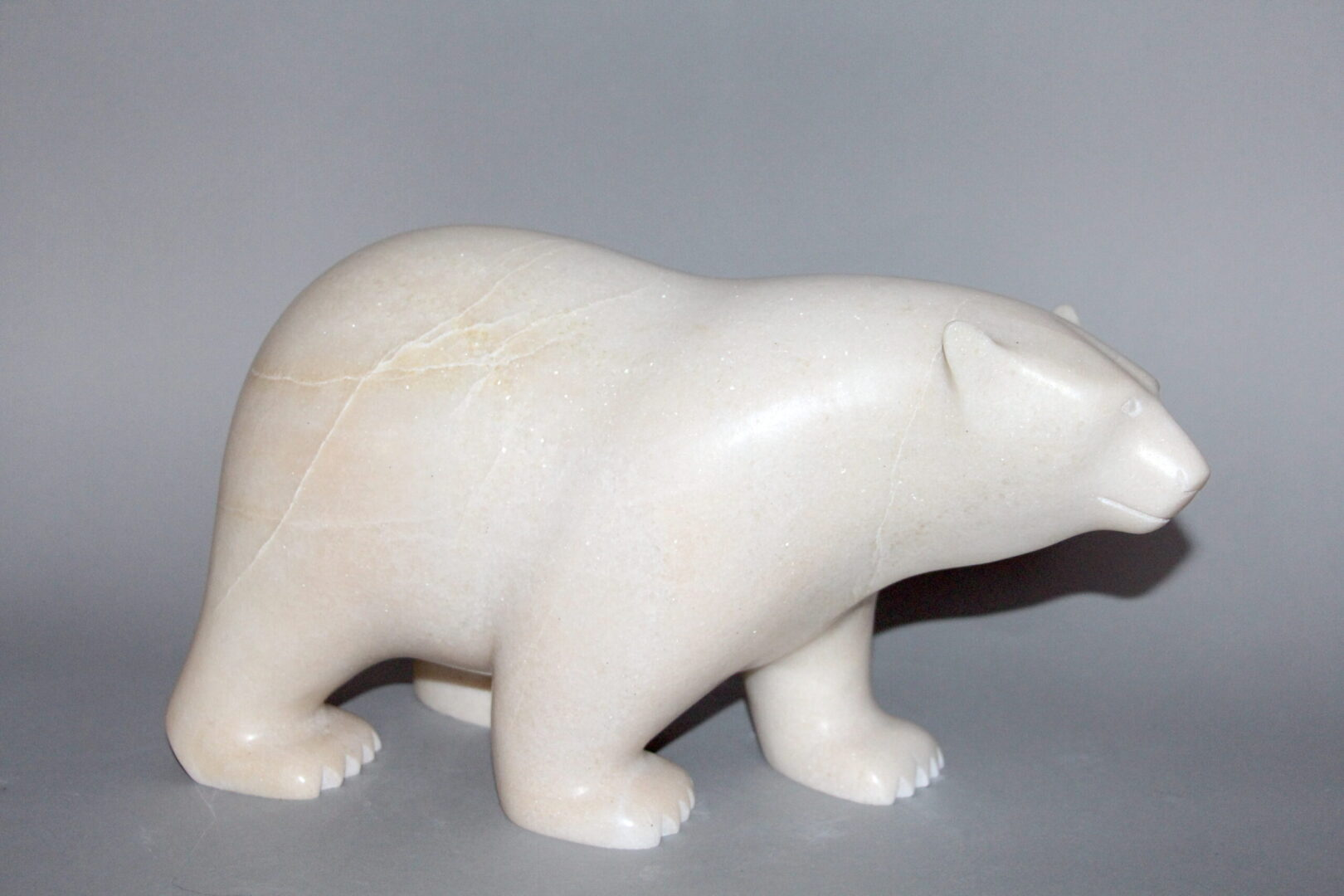 Ashevak Adla walking bear marble cape dorset