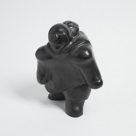 inuit art sculpture basalte