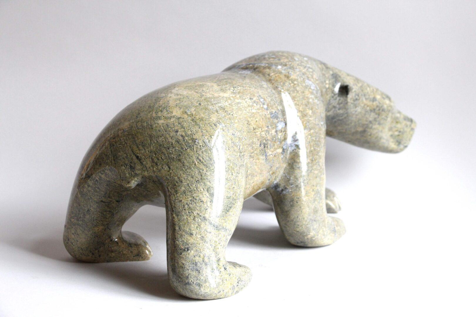 Walking Bear Serpentine Stone Cape Dorset
