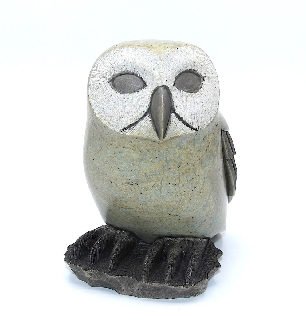 owlet iroquois art sculpture made in soapstone
