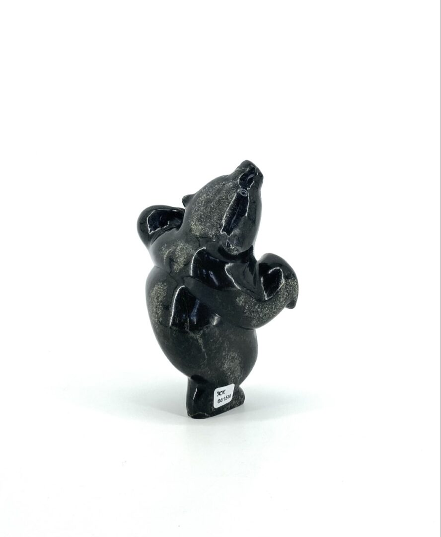 Bear 6615N by Markoosie Papigatook cape Dorset Inuit serpentine