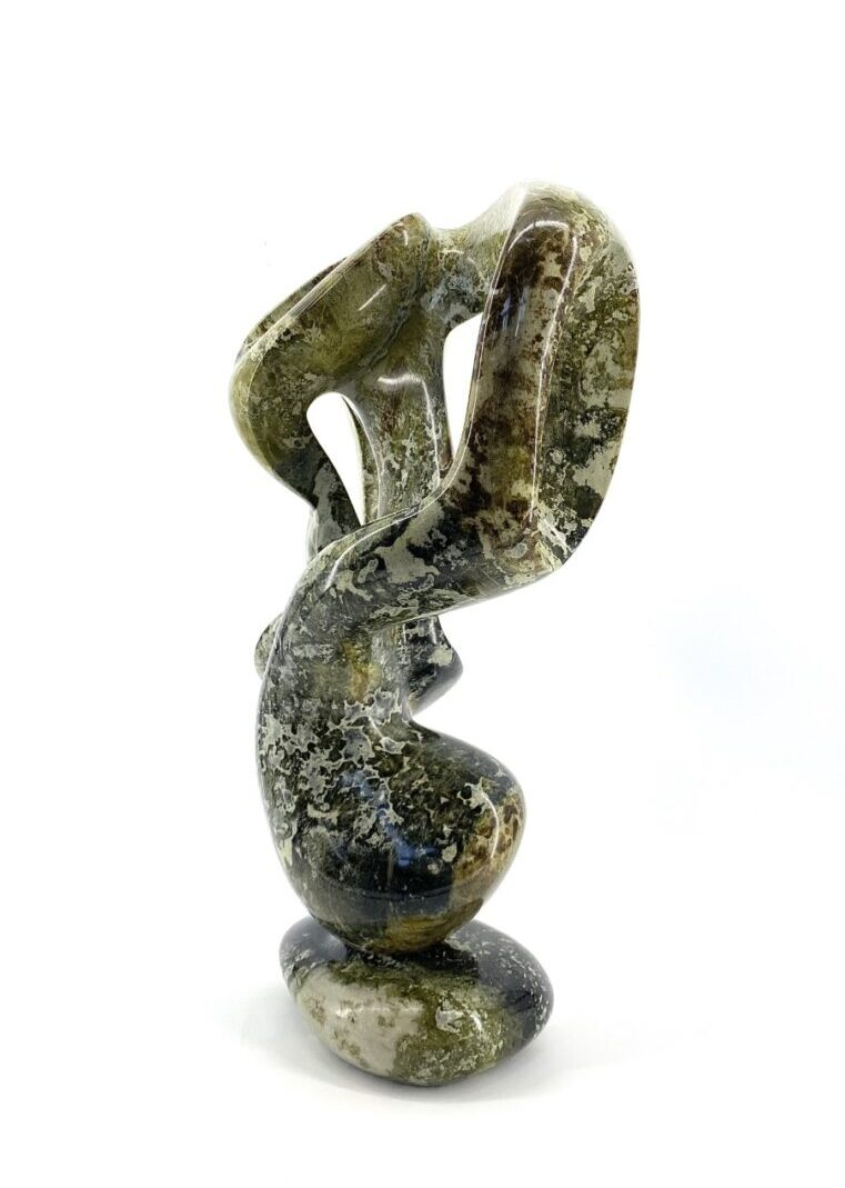 Abstract 0102L by Paul Bruneau serpentine stone sculpture ojibway