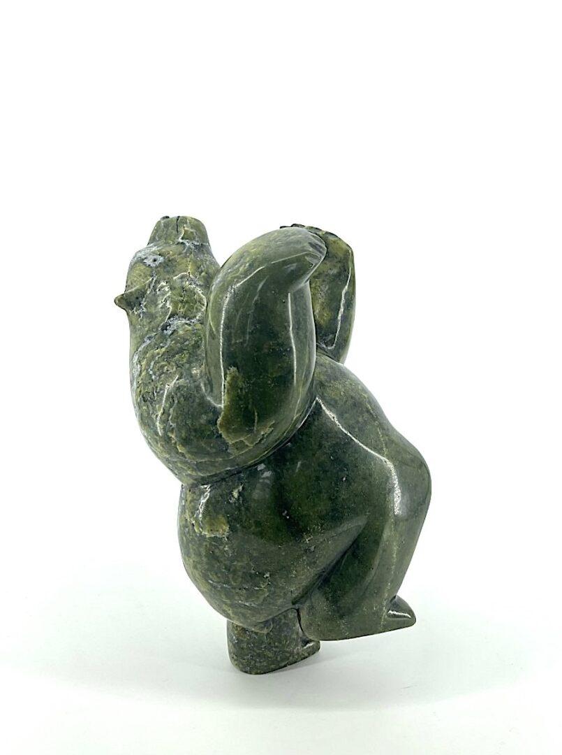 Dancing Bear Isaacie Petaulassie Sculpture Inuit Art Serpentine Cape Dorset