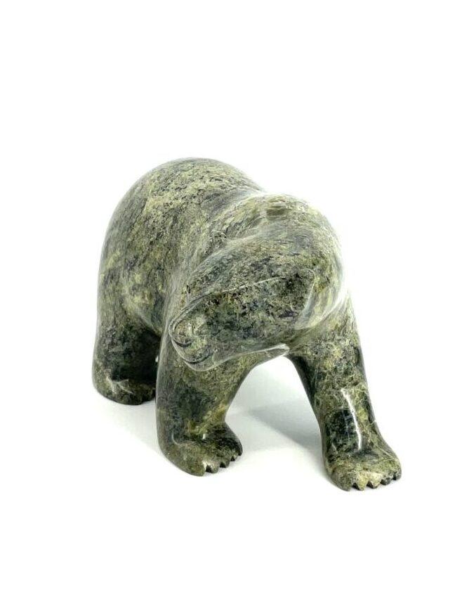 One original Inuit art sculpture hand carved in serpentine by Etidloie Adla ''Bear 68980