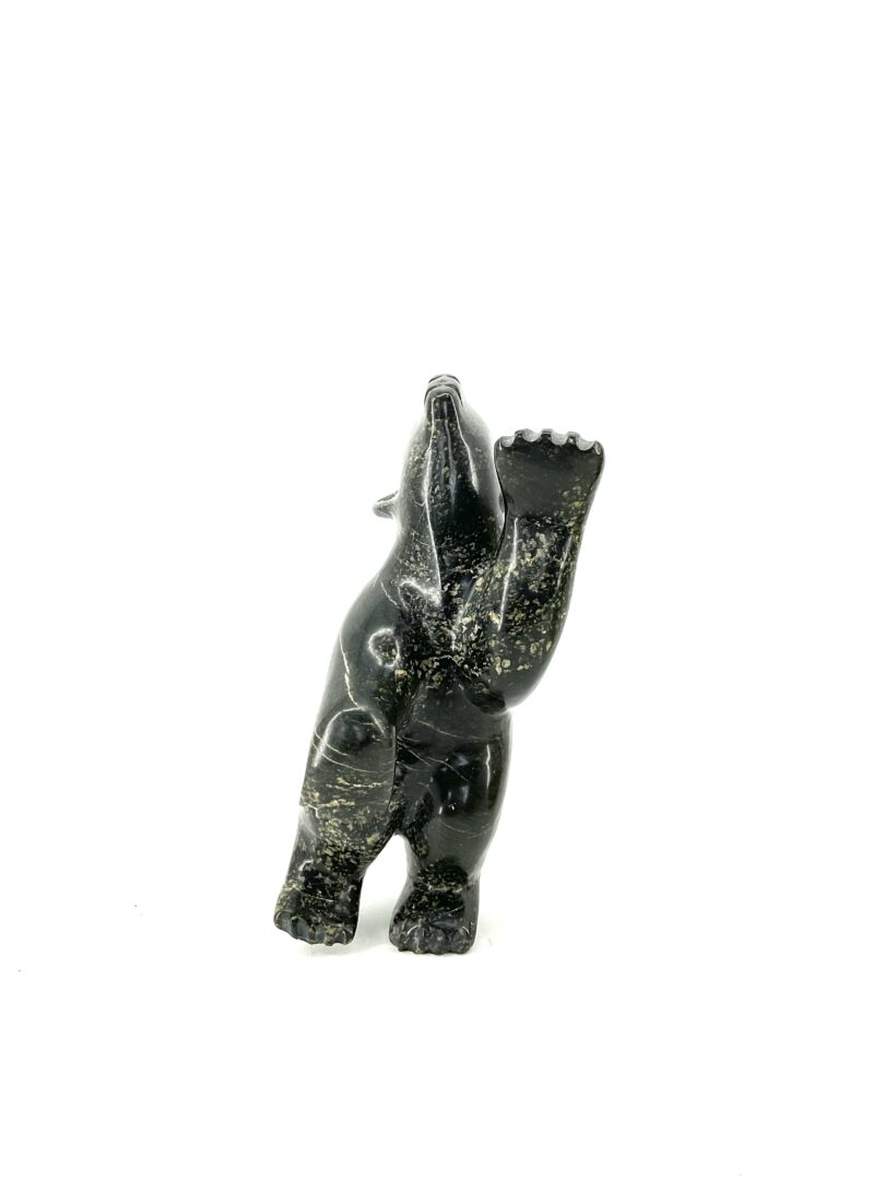 One original Inuit art sculpture hand carved in serpentine by Jimmy Tunnilie