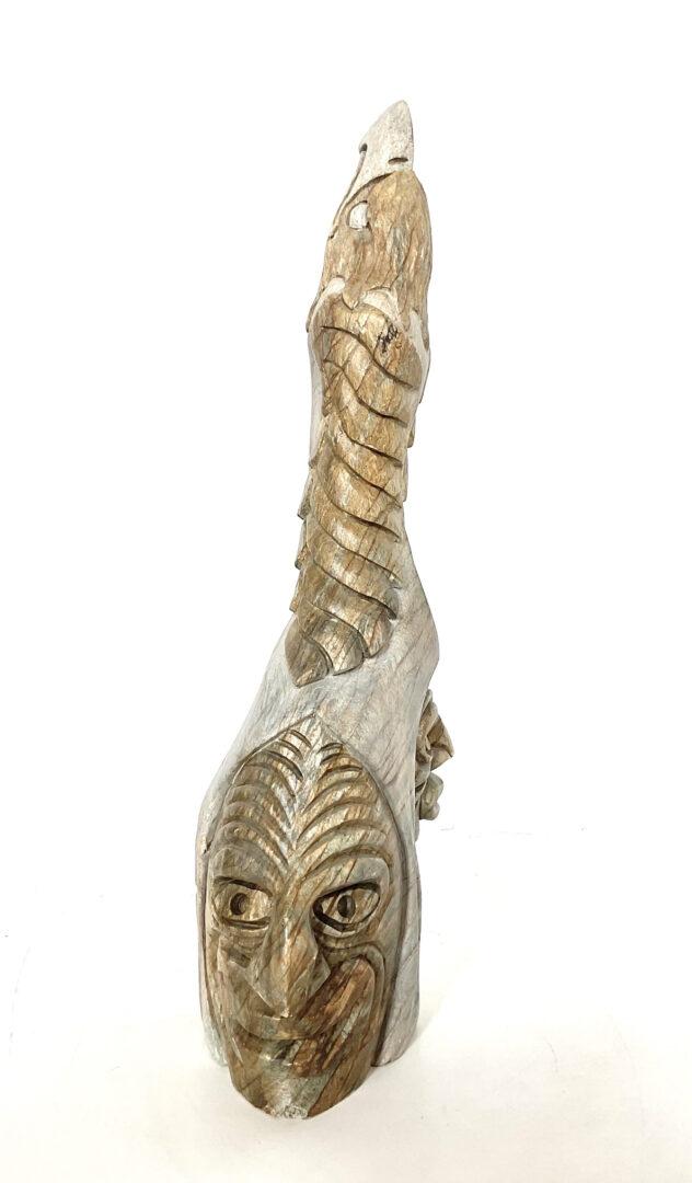 One original Onondaga hand carved sculpture by Josy Thomas