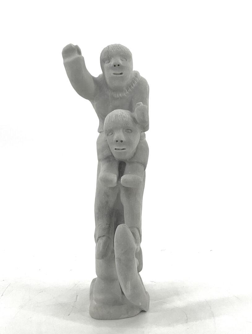 One original Inuit art sculpture by Luke Taqqaugaq